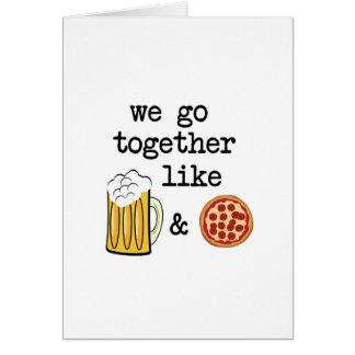 Pizza u. Bier Grußkarte