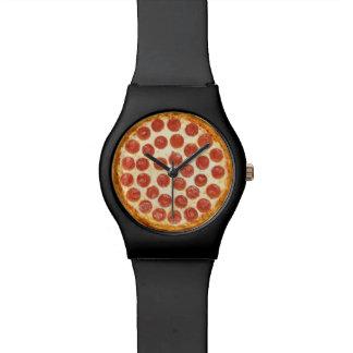 Pizza-Uhr Armbanduhr