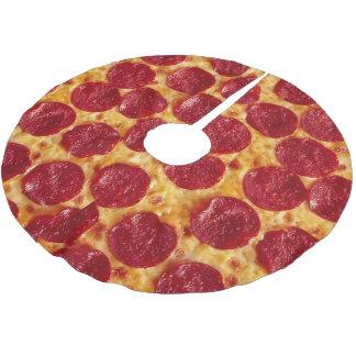 Pizza-Weihnachtsbaum-Rock Polyester Weihnachtsbaumdecke