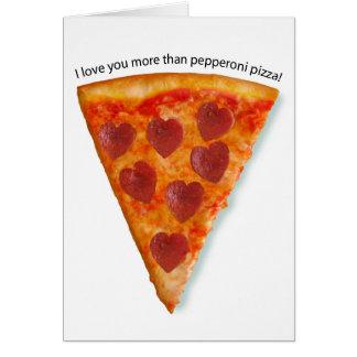 Pizzagrußkarte Karte