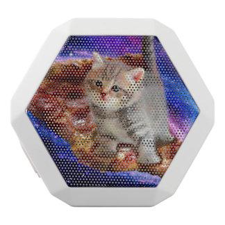 Pizzakatze - niedliche Katzen - Kitty - Kätzchen Weiße Bluetooth Lautsprecher
