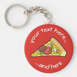 Pizzascheibe Schlüsselanhänger