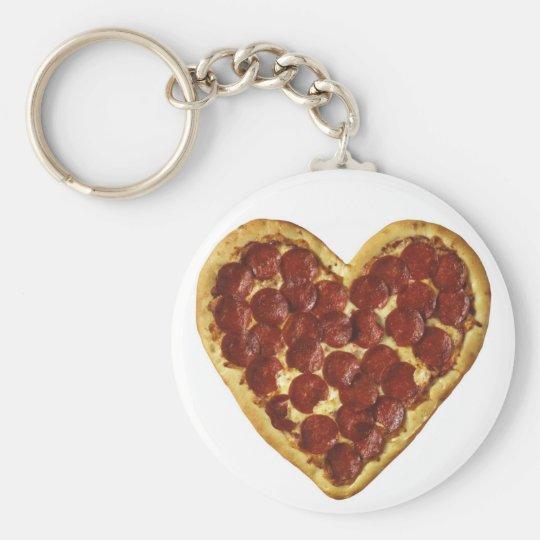Pizzaschlüsselkette Standard Runder Schlüsselanhänger