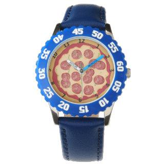 Pizzauhr mit Zahlen Armbanduhr