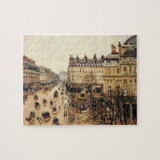 Place du Theatre Francais, Paris-Regen durch