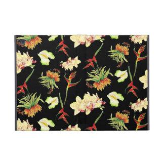 Plage botanique de papillon d'orchidée florale tro étuis iPad mini