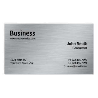 Plaine moderne en métal élégant professionnel carte de visite standard