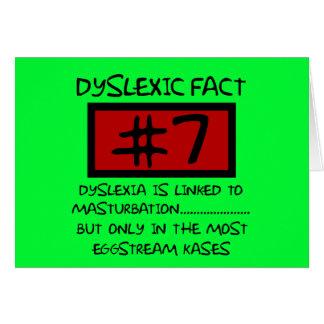 Plaisanterie de dyslexique de mauvais goût carte de vœux