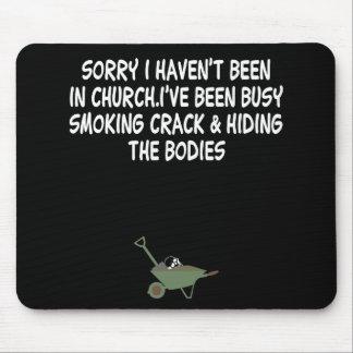 Plaisanterie de fente de mauvais goût tapis de souris