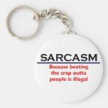 Plaisanterie drôle de sarcasme de KRW Porte-clé Rond