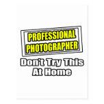 Plaisanterie professionnelle de photographe… cartes postales