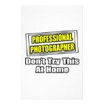 Plaisanterie professionnelle de photographe… papier à lettre customisé