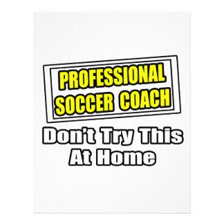 Plaisanterie professionnelle d'entraîneur du footb prospectus personnalisés
