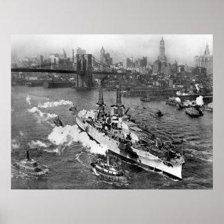 "Plakat 20"" Schlachtschiff USSs Arizona x 26"""