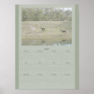 Plakat - Alpaka-Kalender 2017