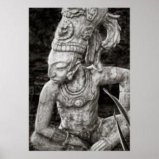 Plakat - alte Mayazahl - Mexiko