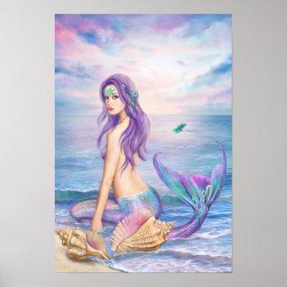 Plakat-Blau-Meerjungfrau Poster