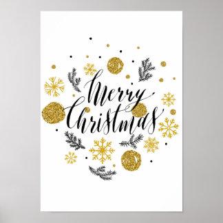 Plakat der frohen Weihnachten