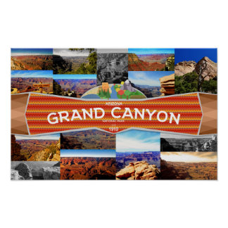 Plakat des Grand Canyon