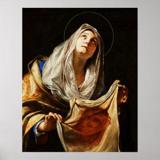 Plakat des St.-Veronica-Schleier-heiliges
