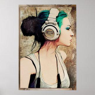 """Plakat für viert weiblichen """"Woman music """""""