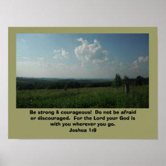 "Plakat-Joshua-1:9 ""ist stark u. mutig "" Poster"