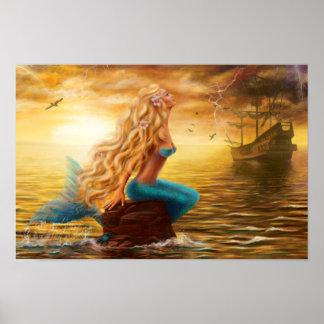 Plakat-Meerjungfrau-Fantasie Poster
