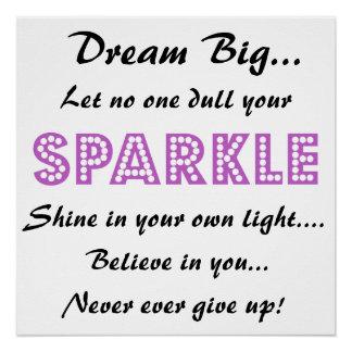 Plakat mit motivierend Sprichwort - Traumgroßes! Poster