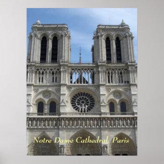 Plakat--Notre Dame-Kathedrale Poster