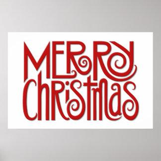 Plakat Rot der frohen Weihnachten