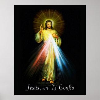 Plakat-Spanisch Jesuss Divina Misericordia - Poster