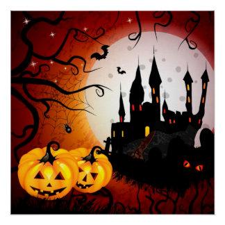 Plakat/Spuk Szene Halloweens Poster