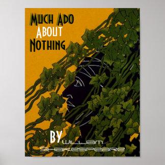 Plakat viel Aufheben über nichts William Shakespea