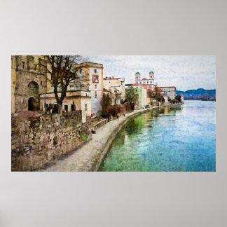 Plakat von Passau, Deutschland