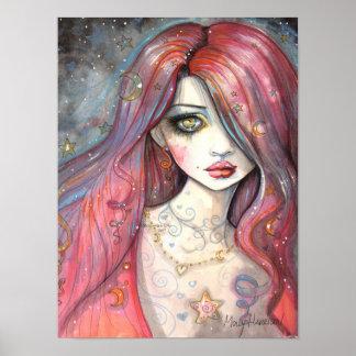 Plakat-zeitgenössische Mädchen-Fantasie-Kunst der Poster