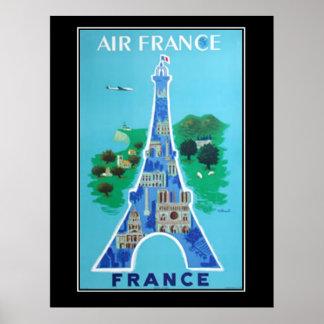 Plakatfranzosen Reise Frankreichs Paris Vintage Poster