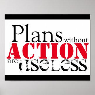 Plan-Aktions-Plakat Poster