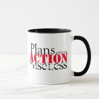 Plan-Aktions-Tasse Tasse