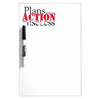 Plan-Aktions-trockenes Löschen-Brett Memoboard