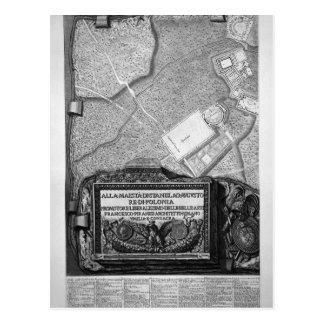 Plan der vorhandenen Fabriken im Landhaus Adrian Postkarte
