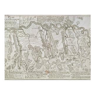 Plan des Kampfes von Blenheim zwischen der Armee Postkarten