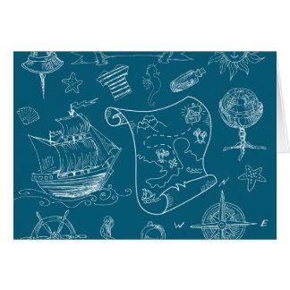Plan-grafisches nautischmuster karte