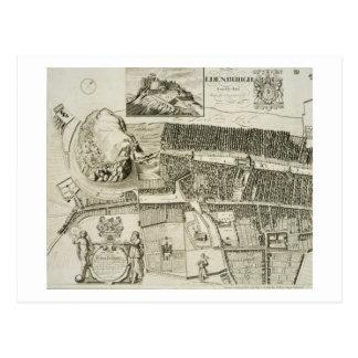 Plan von Edinburgh, Kneipe. durch John-Smith Postkarte