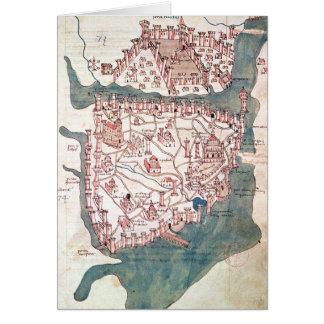 Plan von Konstantinopele Karte