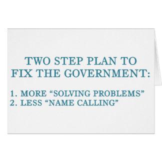 Plan, zum der Regierung zu regeln Karte