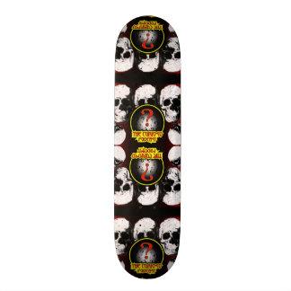 Planche à roulettes de crâne de podcast de Curioso Skateboard Old School 21,6 Cm
