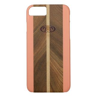 Planche de surf hawaïenne en bois de Faux de point Coque iPhone 7