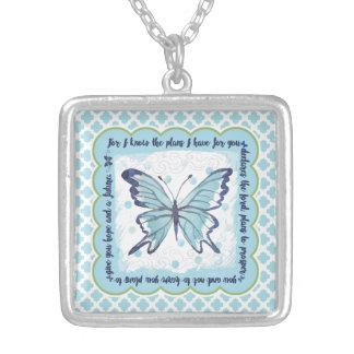 Pläne für Sie Schmetterlings-Halskette Versilberte Kette