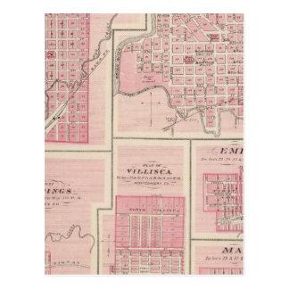 Pläne von Glenwood, Denison, Hastings Postkarte