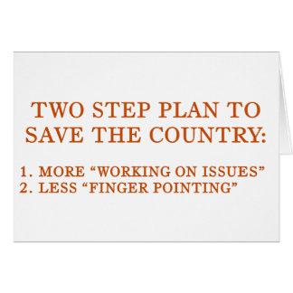 Planen Sie, das Land zu retten Karte